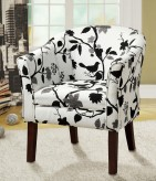 Elliott Black And White Bird Accent Chair Available Online in Dallas Fort Worth Texas