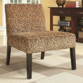 Coaster Winston Gold Leopard Patterned Accent Chair Available Online in Dallas Fort Worth Texas