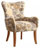 Bachman Beige Circle Design Accent Chair Available Online in Dallas Fort Worth Texas