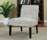 Bachman Script Accent Chair Available Online in Dallas Fort Worth Texas