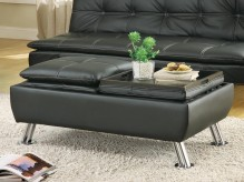 Coaster Dilleston Black Storage Ottoman Available Online in Dallas Fort Worth Texas
