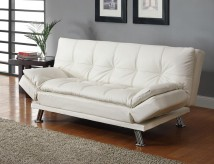 Coaster Dilleston White Sofa Bed Available Online in Dallas Fort Worth Texas