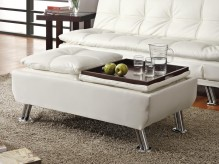Dilleston White Storage Ottoman Available Online in Dallas Fort Worth Texas