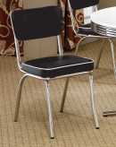 Cleveland Chrome Plated Black Side Chair Available Online in Dallas Fort Worth Texas