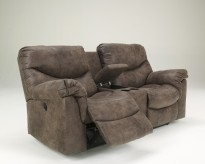 Alzena Reclining Loveseat with Console Available Online in Dallas Fort Worth Texas