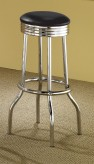Coaster Deedra Chrome Plated Soda Fountain Bar Stool Available Online in Dallas Fort Worth Texas