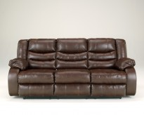 Ashley Linebacker Espresso Reclining Sofa Available Online in Dallas Fort Worth Texas