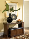Ashley Merihill Sofa Table with Ottoman Available Online in Dallas Fort Worth Texas