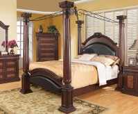 Grand Prado Queen Canopy Bed Available Online in Dallas Fort Worth Texas