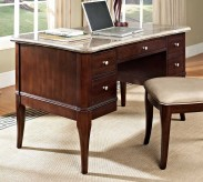 SteveSilver Marseille Marble Top Desk Available Online in Dallas Fort Worth Texas