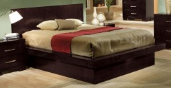 Jessica Cappuccino Queen Platform Bed Available Online in Dallas Fort Worth Texas