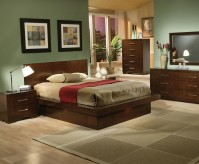 Jessica 5pc Queen Platform Bedroom Group Available Online in Dallas Fort Worth Texas