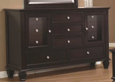 Coaster Sandy Beach Cappuccino Dresser Available Online in Dallas Fort Worth Texas