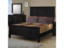 Sandy Beach Black Cal King Panel Bed Available Online in Dallas Fort Worth Texas