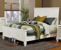Sandy Beach White Cal King Panel Bed Available Online in Dallas Fort Worth Texas