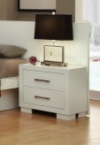 Coaster Jessica White Night Stand Available Online in Dallas Fort Worth Texas