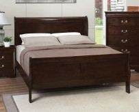 Louis Philippe Brown Queen Bed Available Online in Dallas Fort Worth Texas