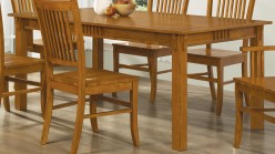 Marbrisa Mission Oak Dining Table Available Online in Dallas Fort Worth Texas