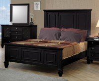 Sandy Beach Black King Panel Bed Available Online in Dallas Fort Worth Texas