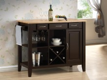 Coaster Butcher Block Server Available Online in Dallas Fort Worth Texas