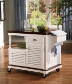 Coaster Butcher Block Kitchen Cart Available Online in Dallas Fort Worth Texas