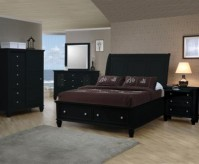 Coaster Sandy Beach Black Queen Storage Bed Available Online in Dallas Fort Worth Texas