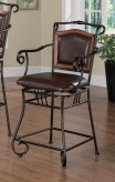 Coaster High Gloss Brown Barstool Available Online in Dallas Fort Worth Texas