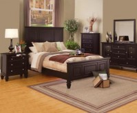 Sandy Beach Cappuccino Queen Panel Bed Available Online in Dallas Fort Worth Texas