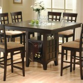 Coaster Gabriel Cappuccino Counter Height Dining Table Available Online in Dallas Fort Worth Texas