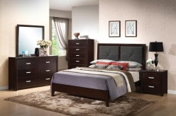 Andreas King 5pc Low Profile Bedroom Group Available Online in Dallas Texas