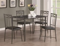 Coaster Dinettes 5pc Black Rectangular Counter Height Set Available Online in Dallas Fort Worth Texas