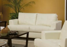 Coaster Samuel Cream Loveseat Available Online in Dallas Fort Worth Texas