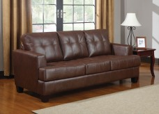 Coaster Samuel Dark Brown Sofa Available Online in Dallas Fort Worth Texas