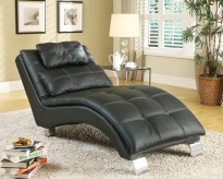 Coaster Dilleston Black Chaise Available Online in Dallas Fort Worth Texas