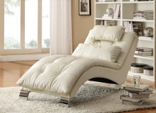 Coaster Dilleston White Chaise Available Online in Dallas Fort Worth Texas