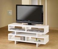 Coaster Clayton White 47in TV Console Available Online in Dallas Fort Worth Texas