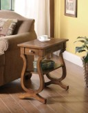 Coaster Tiffany Warm Brown Chairside Table Available Online in Dallas Fort Worth Texas