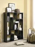 Asymmetrical Cappuccino Bookcase Available Online in Dallas Fort Worth Texas