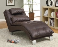 Coaster Dilleston Brown Chaise Available Online in Dallas Fort Worth Texas