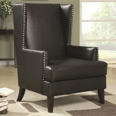 Rosalie Black Wing Back Accent Chair Available Online in Dallas Fort Worth Texas