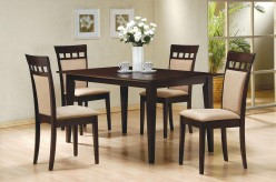 Coaster Hyde 5pc Cushion Back Rectangular Dining Room Set Available Online in Dallas Fort Worth Texas