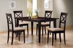 Coaster Hyde 5pc Cross Back Rectangular Dining Room Set Available Online in Dallas Fort Worth Texas