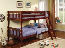 Coaster Corinth Cherry Twin/Twin Bunk Bed Available Online in Dallas Fort Worth Texas