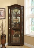 Traditional Corner Curio Cabinet Available Online in Dallas Fort Worth Texas