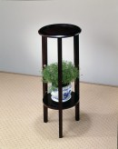 Coaster Taiwan Espresso Round Top Plant Stand Available Online in Dallas Fort Worth Texas