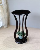 Coaster Taiwan Hourglass Round Espresso Plant Stand Available Online in Dallas Fort Worth Texas