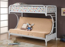 Fordham White Twin/Futon Bunk Bed Available Online in Dallas Texas