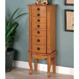 Coaster Bob Oak Jewelry Armoire Available Online in Dallas Fort Worth Texas