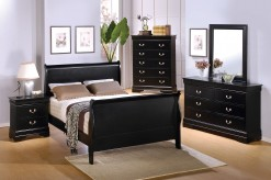 Louis Philippe 5pc Black Queen Bedroom Set Available Online in Dallas Fort Worth Texas