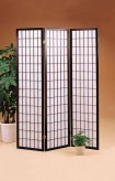 Coaster Black Three Panel Room Divider Available Online in Dallas Fort Worth Texas
